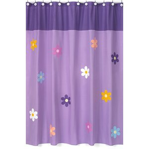 Danielle's Daisies Cotton Shower Curtain