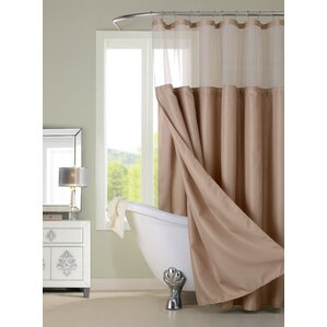 brown and white shower curtain. Hotel Shower Curtain Brown Curtains You ll Love  Wayfair