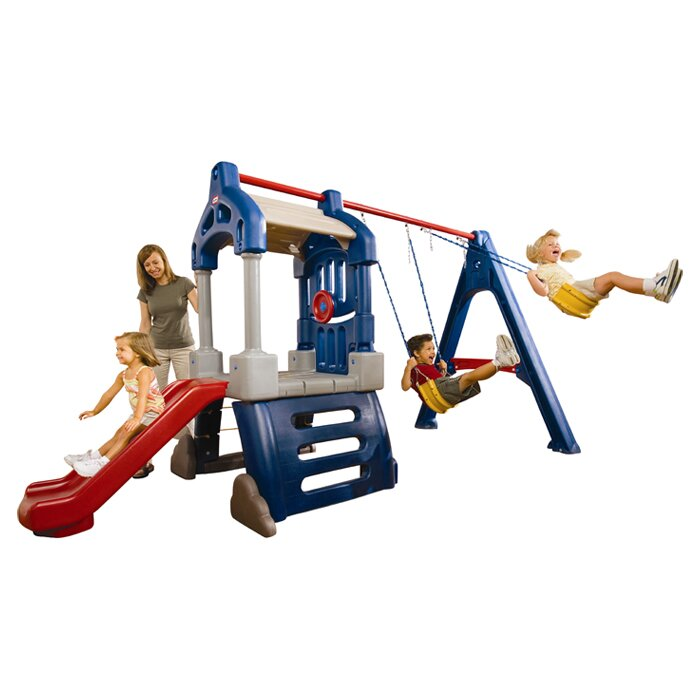 Little Tikes Clubhouse Swing Set Reviews Wayfair