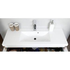 Belfry Bathroom 100 cm Halbeinbauwaschbecken Abita