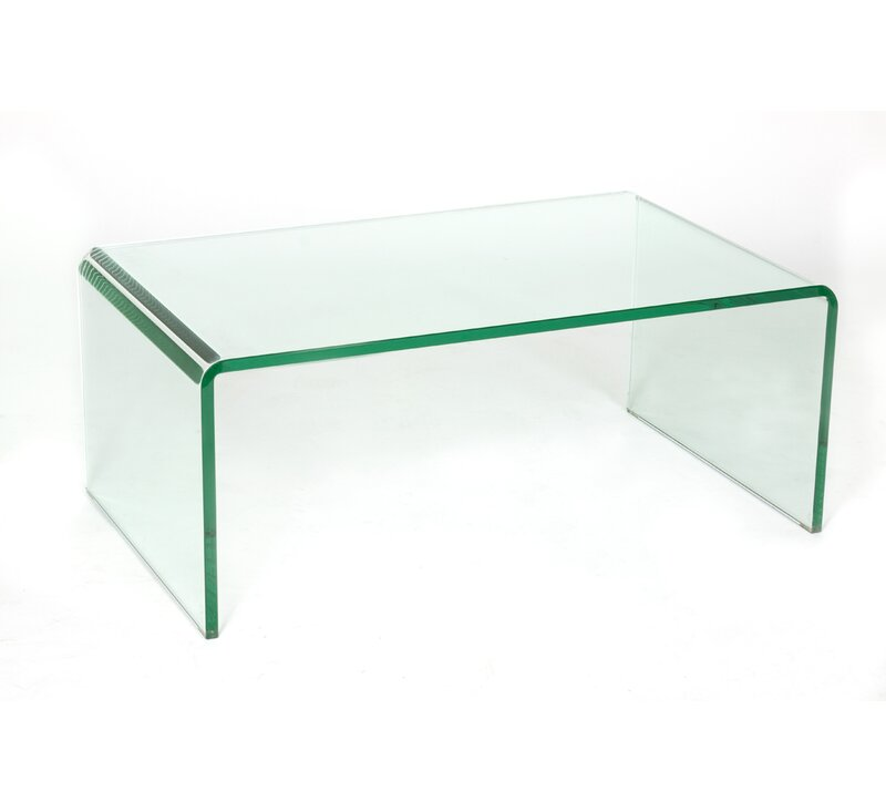 Glass Coffee Tables Next: C2A Designs Waterfall Glass Coffee Table
