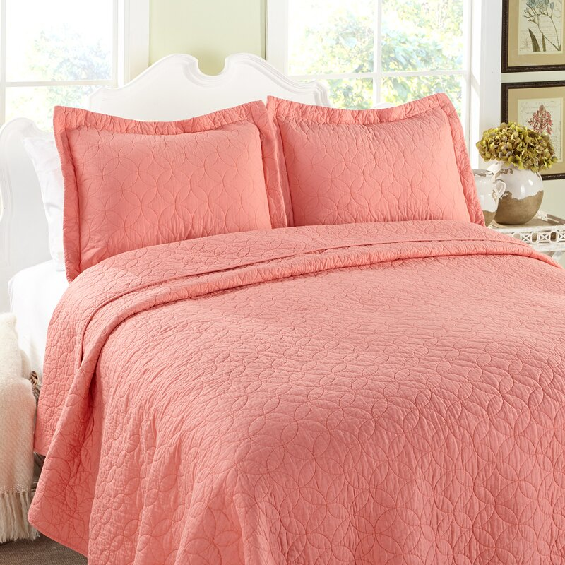 Solid 100 Cotton Reversible Quilt Set By Laura Ashley Home
