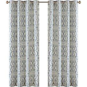 Manda Damask Max Blackout Grommet Single Curtain Panel