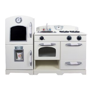 Modern Wooden Play Kitchen play kitchen sets & accessories | wayfair