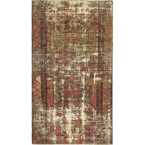 Sela Traditional Vintage Persian Hand Woven Wool Beige Border Area Rug