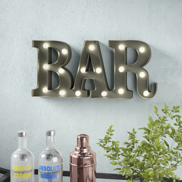 Wrought Studio Bar Led Marquee Sign Amp Reviews Wayfair