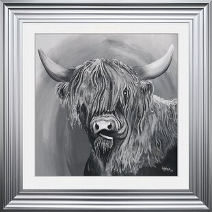 72cfca5d20f  Highland Cow 2  Framed Graphic Art Print