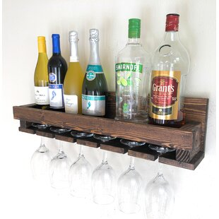 Rothermel 10 Bottle Wall Mounted Wine Rack