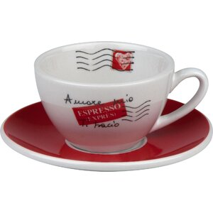 Coffee Bar Amore Mio 3 oz. Cafe Creme Cup and Saucer (Set of 4)