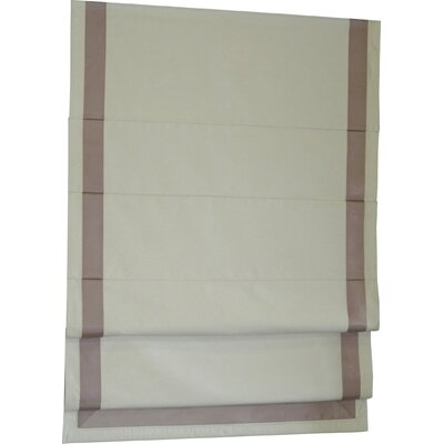 Beachcrest Home Indoor Cordless Blackout Roman Shade Color: Taupe/Natural, Size: 34 W x 63 L
