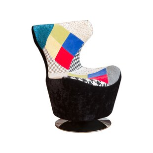 Coney Patchwork Swivel Lounge Chair