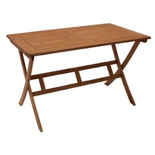 Cort Folding Eucalyptus Wood Dining Table