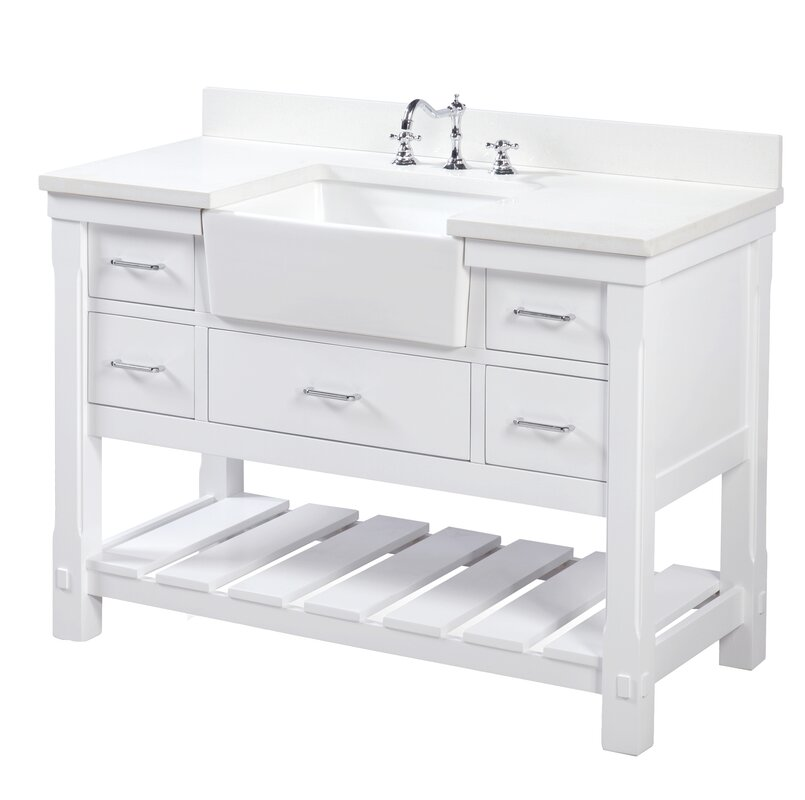 48 vanity with sink. Charlotte 48  Single Bathroom Vanity Set KBC Reviews Wayfair