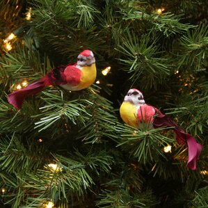 Red Bird Christmas Tree Ornaments