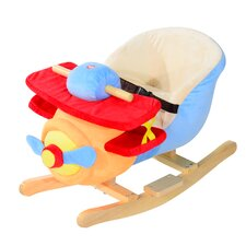 Kids Plush Rocking Horse Airplane with Nursery Rhyme Sounds