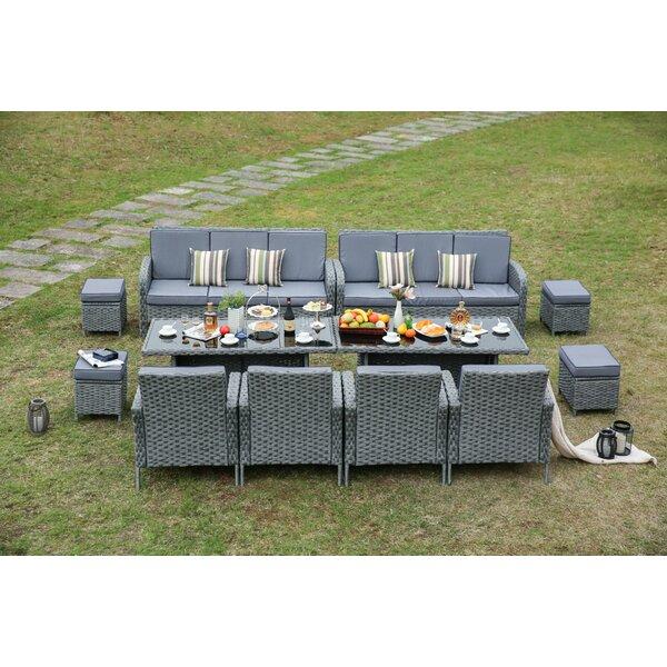 Brayden Studio Sallie 12 Piece Dining Set With Cushions | Wayfair