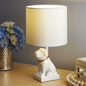 Amico Accented Dog Resin 15″ Table Lamp