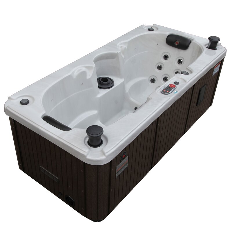 Yukon 2 Person 16 Jet Plug And Play Hot Tub With Waterfall