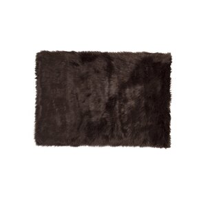 Shawnta Chocolate Faux Sheepskin Area Rug
