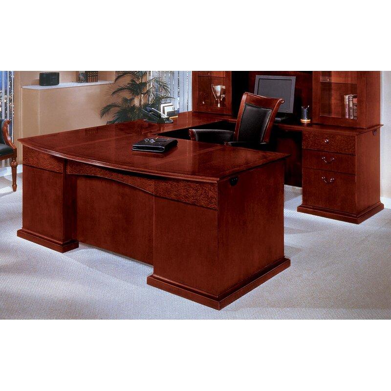Del Mar U Shape Executive Desk With Hutch