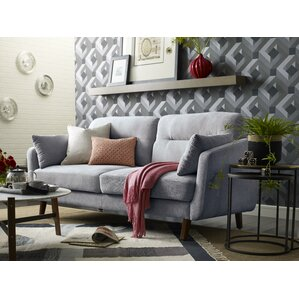 Chloe Mid-Century Modern Loveseat by Elle Decor
