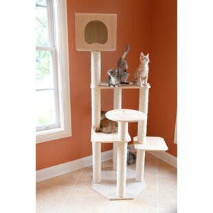 Solid Wood Cat Tree | Wayfair
