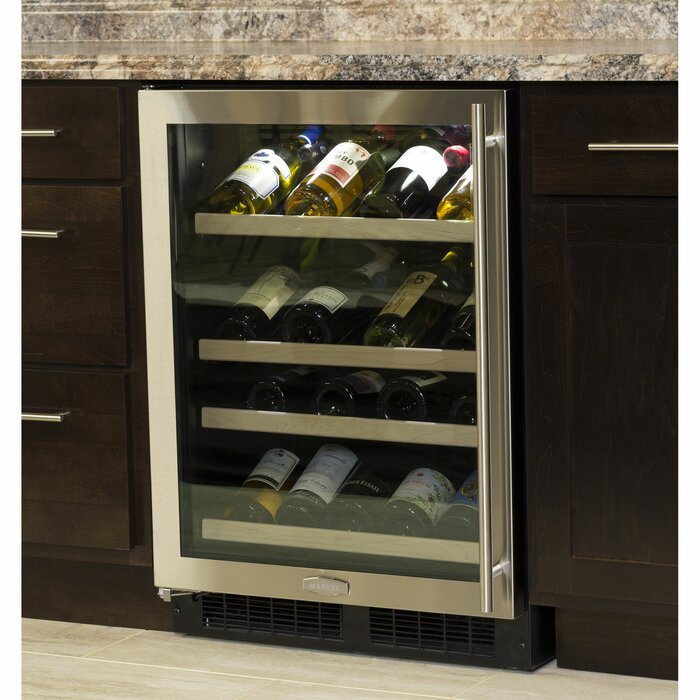 27 Bottle Gallery High Efficiency Single Zone Built In Wine Cooler