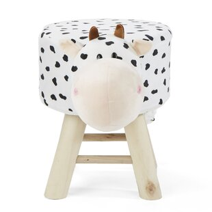 Children S Favorite Cow Animal Kid Stool And Ottoman