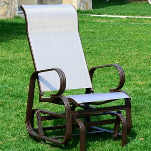 Gabbard Outdoor Mesh Fabric Patio Glider Chair