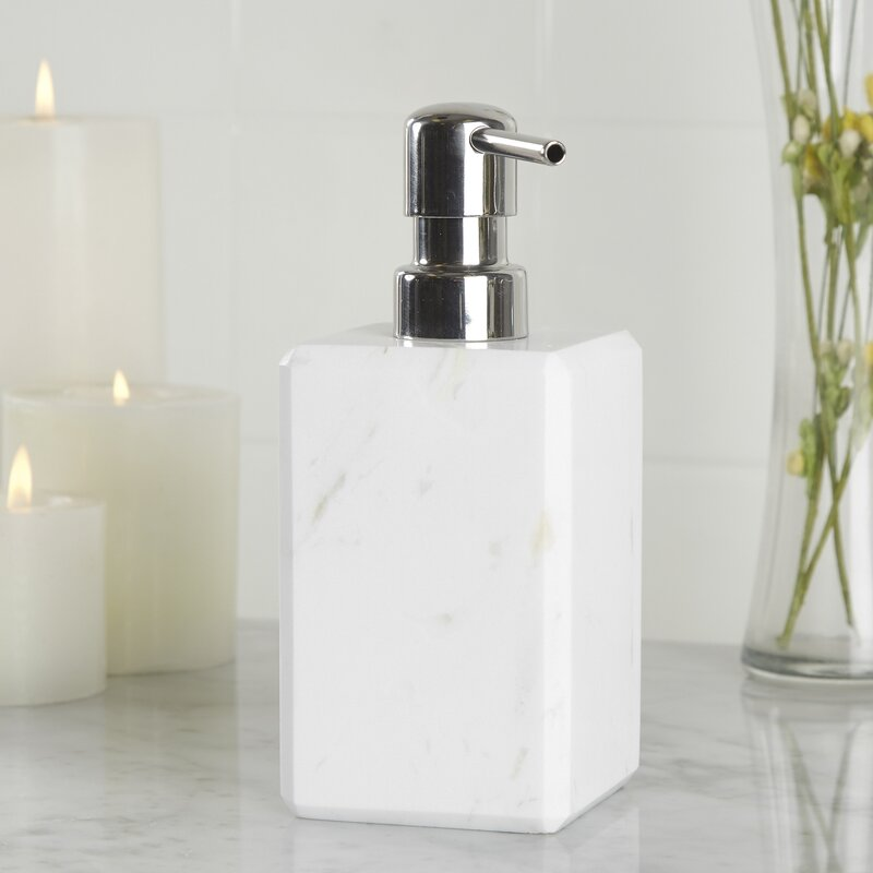 Gaston marble lotion dispenser reviews allmodern for All bathroom accessories