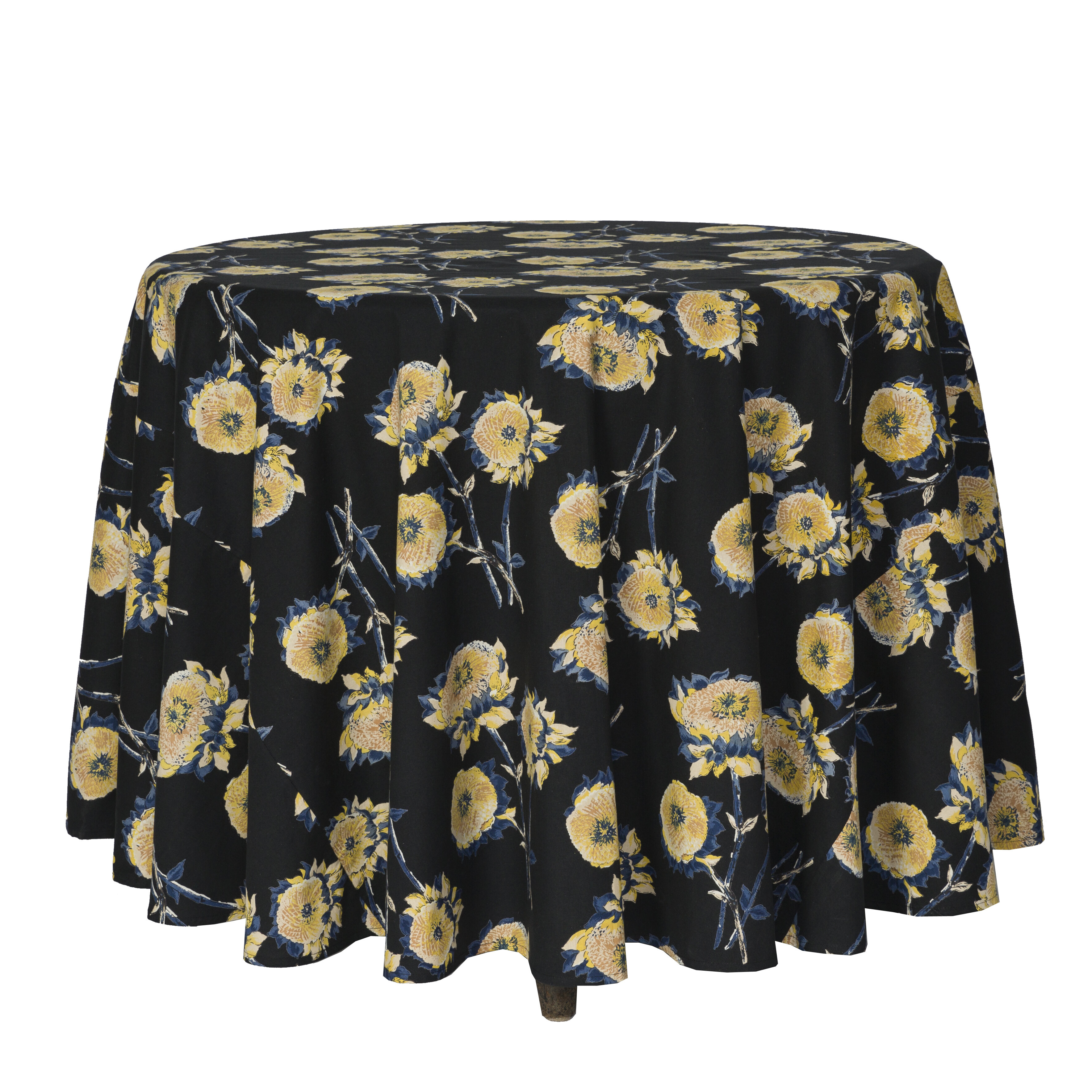 Superieur Clayborn Sun Flower Floral Round Tablecloth