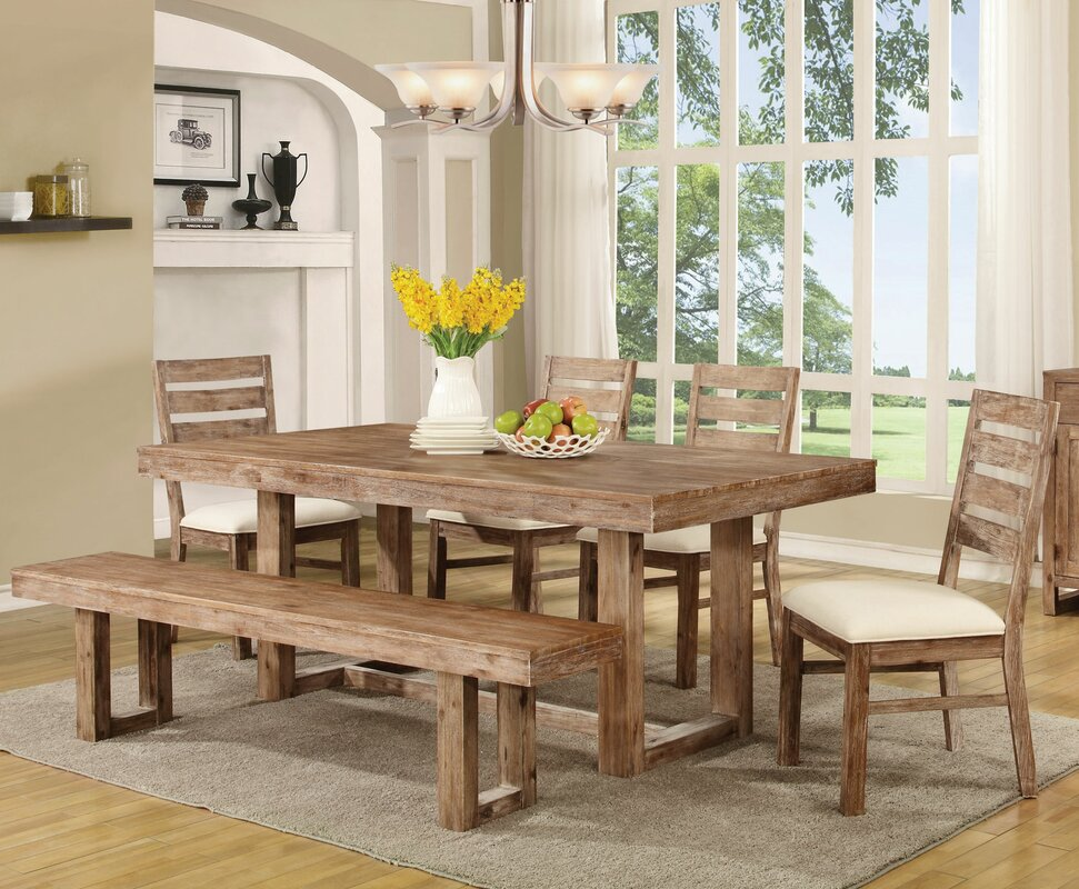 Laurel Foundry Modern Farmhouse Hollingshead 6 Piece Dining Table ...