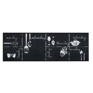 Bainum Chalk Calender Kitchen Mat by Longweave