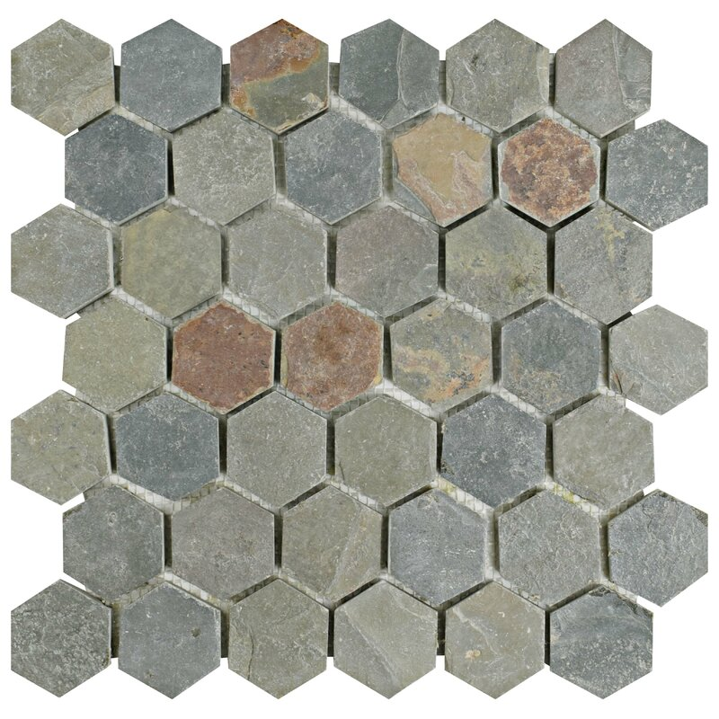 Peak Hexagon 1 88 X Slate Mosaic Tile