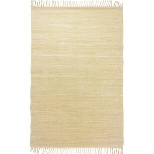 Handwoven Cotton Natural Rug by Theko
