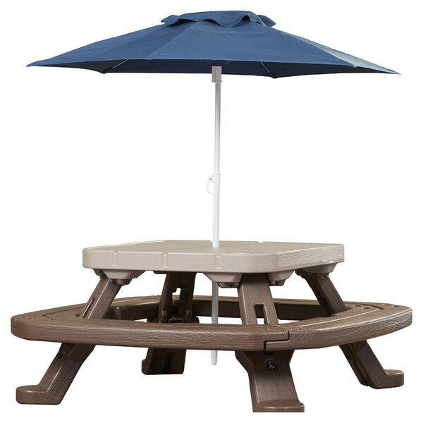 picnic table with umbrella Little Tikes Endless Adventures Fold 'n Store Picnic Table  picnic table with umbrella