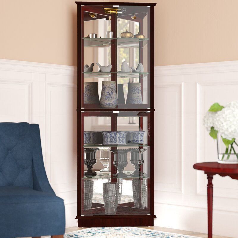 Andover Mills Randalstown Lighted Corner Curio Cabinet Reviews