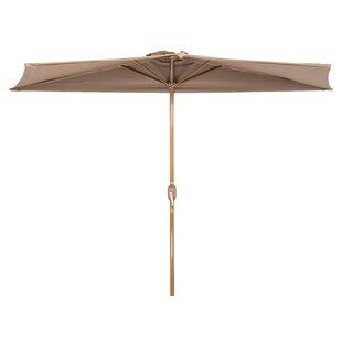 Hwang Patio Half 4.5u0027 X 9u0027 Rectangular Market Umbrella