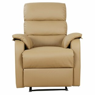 real leather recliner chair wayfair co uk