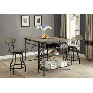 Scarberry 3 Piece Counter Height Dining Set