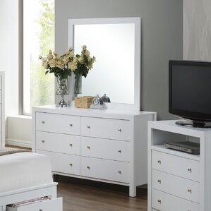 Brennen 6 Drawer Double Dresser with Mirror by Latitude Run