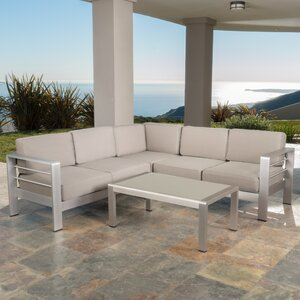 Durbin 4 Piece Seating Group with Cushions