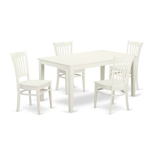 Smyrna 5 Piece Solid Wood Dining Set