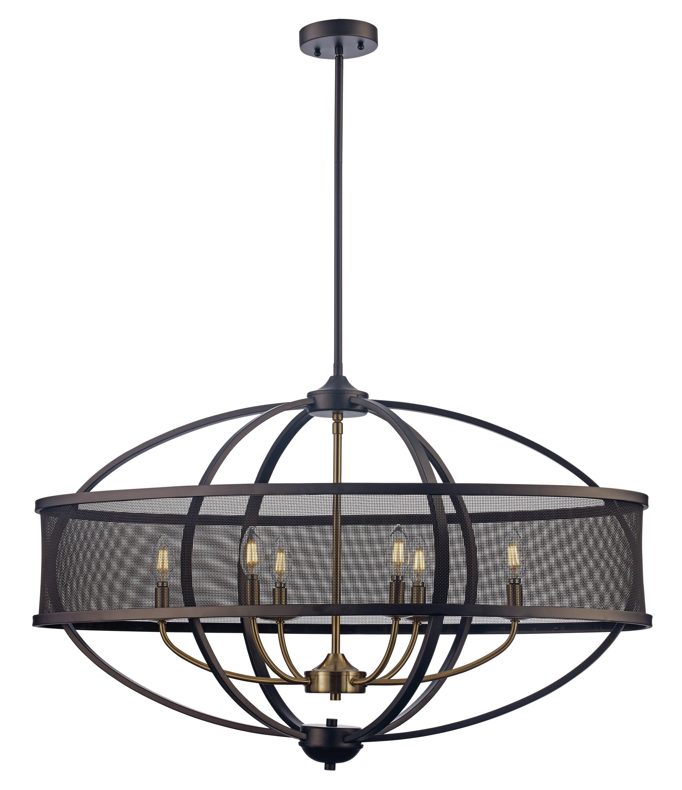 Wrought studio mattias 6 light led geometric chandelier reviews wayfair