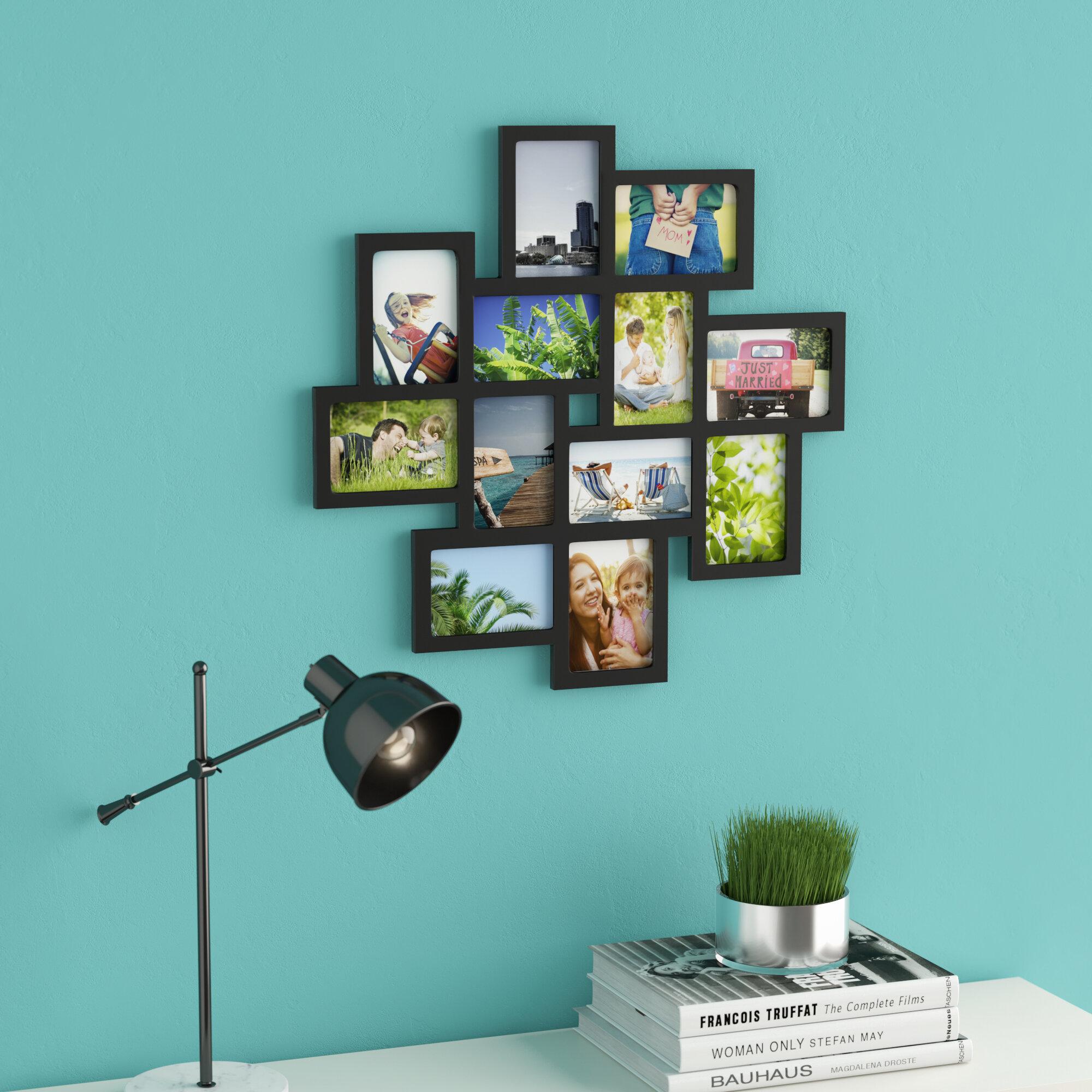 Latitude Run Nordman 12 Opening Decorative Wood Photo Collage Wall ...
