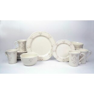 Adi 16 Piece Dinnerware Set Service for 4  sc 1 st  Wayfair & Cottage u0026 Country Dinnerware Sets Youu0027ll Love | Wayfair