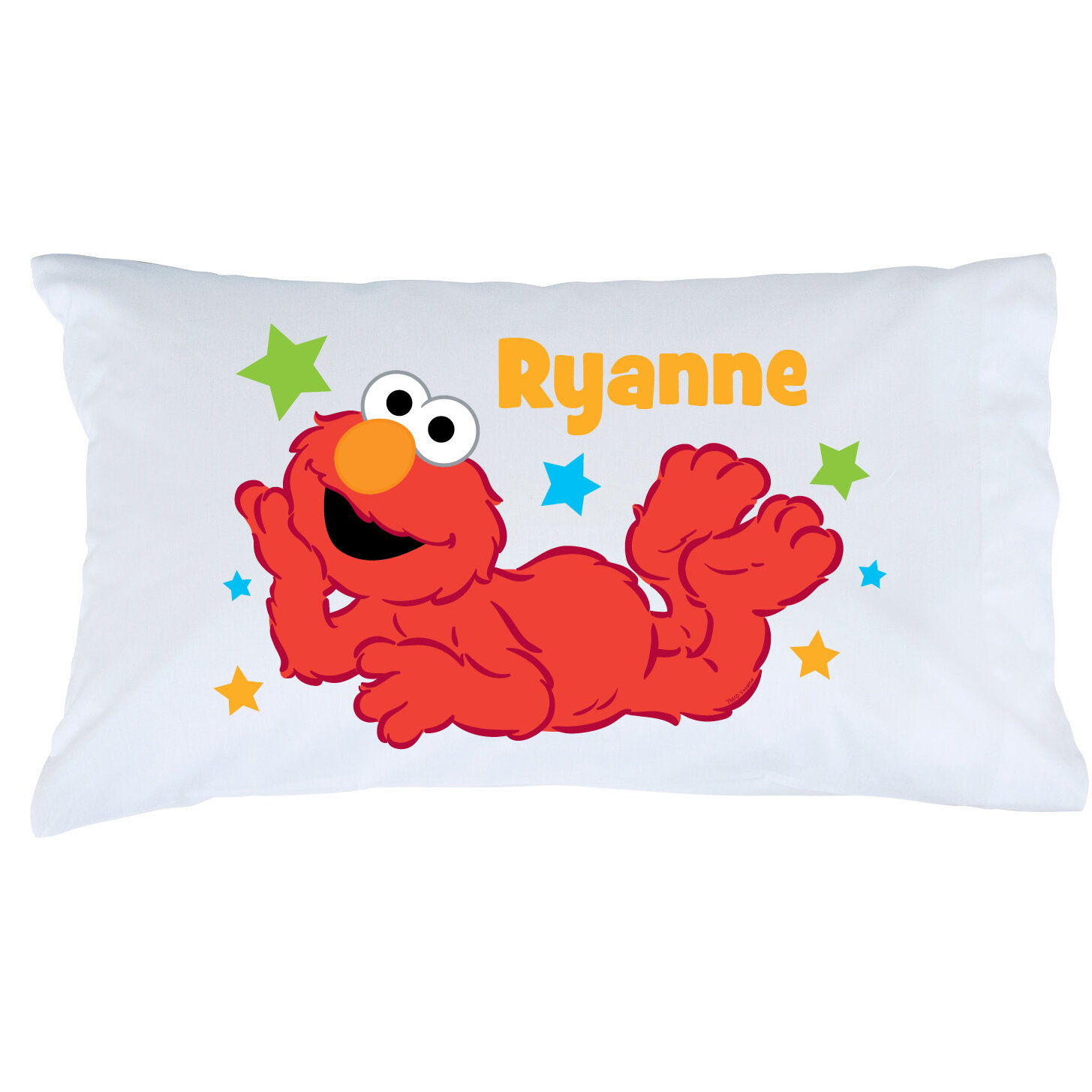 Cps personalized sesame street elmo star pillow case wayfair