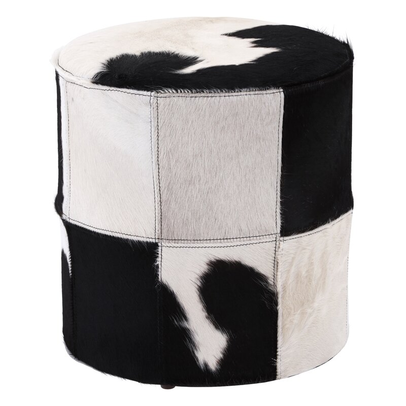 Laurel Foundry Pouf Murtaugh Aus Echtleder Wayfairde Cool Urban Foundry Pouf