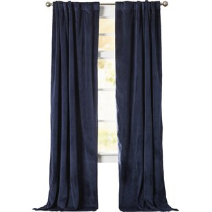 Dark Blue Velvet Curtains | Wayfair