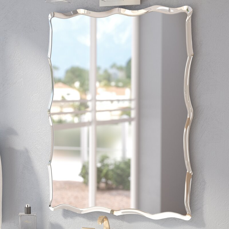 Lovely Redcliffe Frameless Wall Mirror